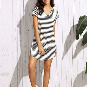 NWOT Striped T-shirt Dress